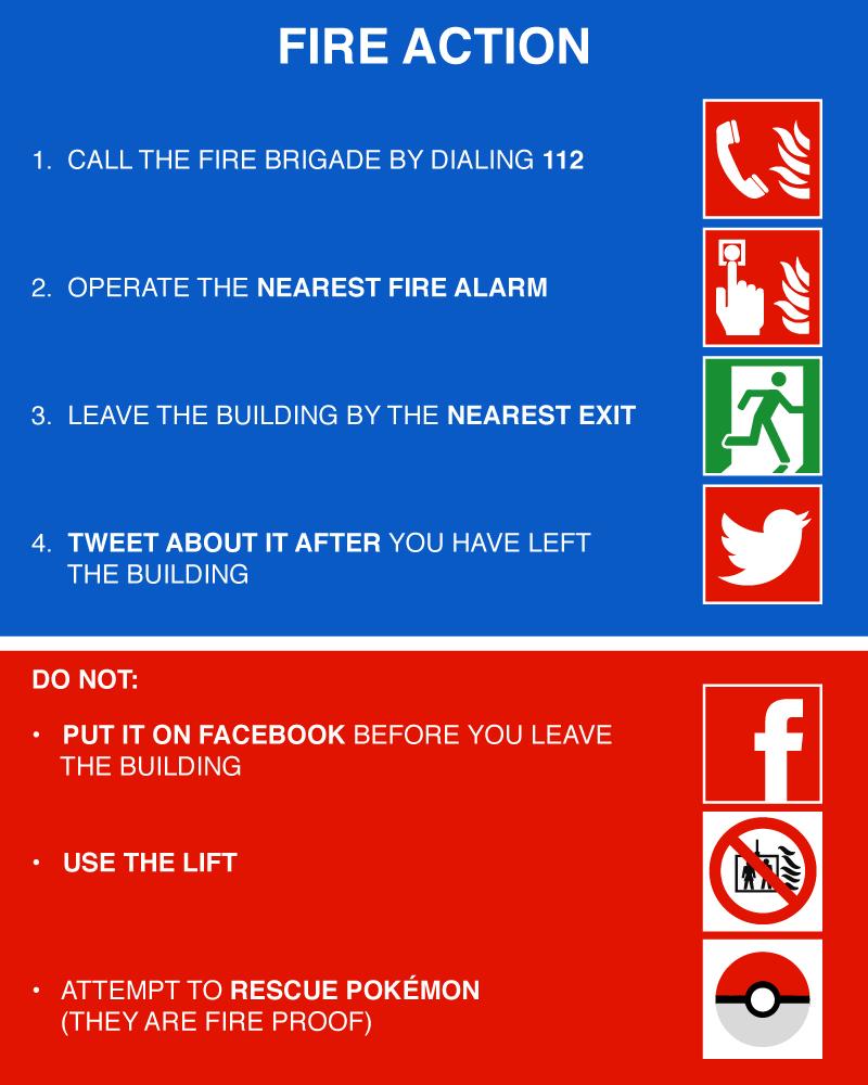 Fire evacuation funny