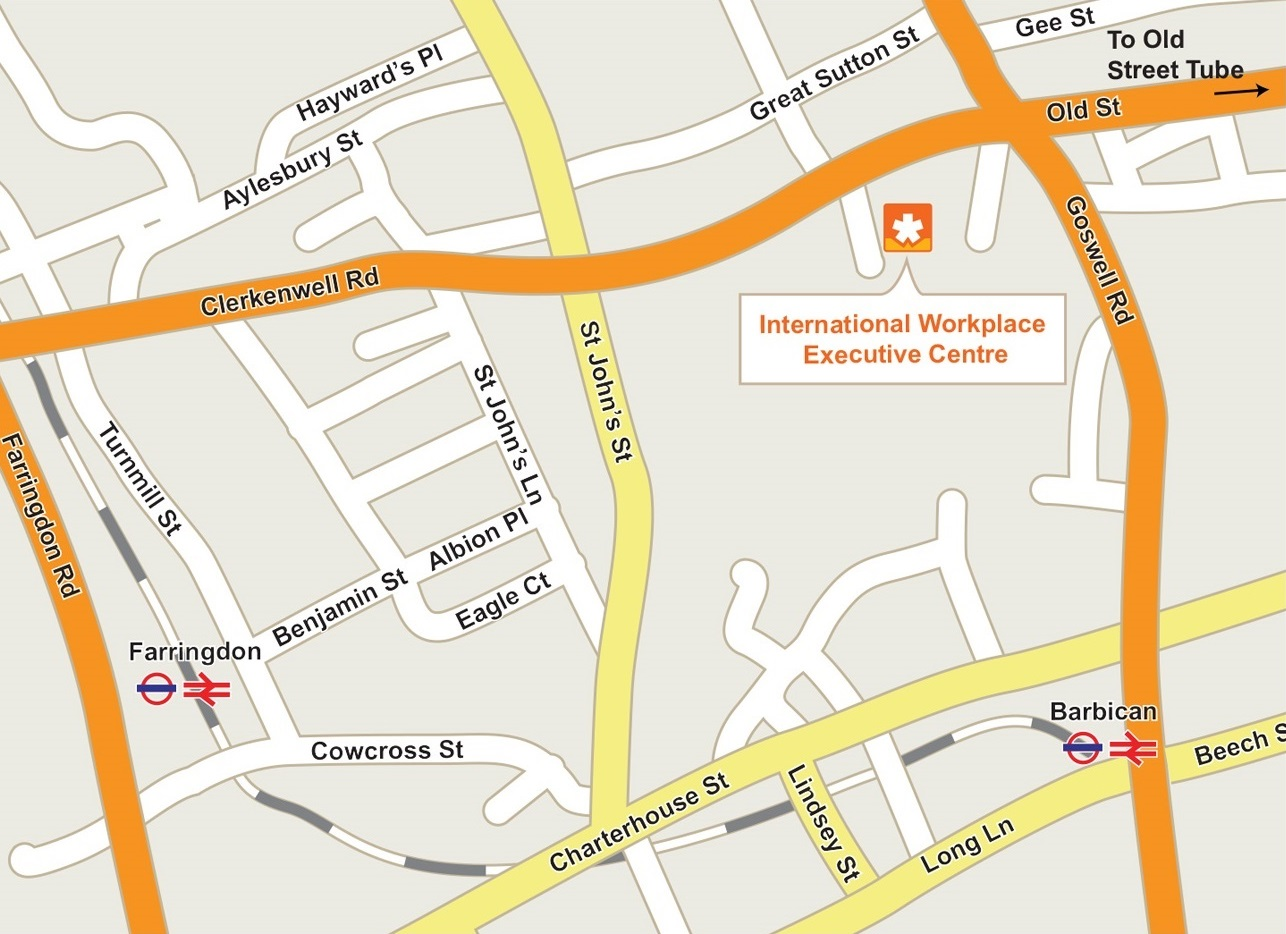 Map of International Workplace Executive Centre
