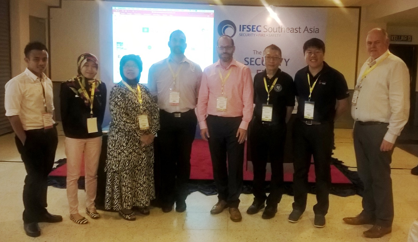 Presenters at the International Workplace Conference Southeast Asia, including Dr Norsaidatul Mazelan of ThinkPlus Consulting, Anthony Wong and Sebastian Wong of Singapore American School, and David Sharp and Danny Cousins of International Workplace.